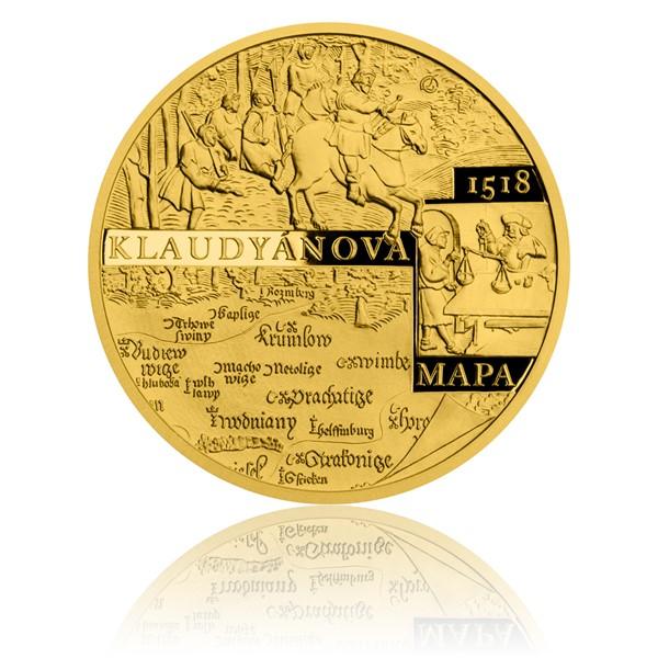 Zlatá půluncová medaile Vydání Klaudyánovy mapy proof