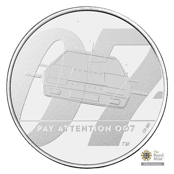 Pamětní mince James Bond 2 - Dávejte pozor 007 UK 2020 stand (5 GBP)