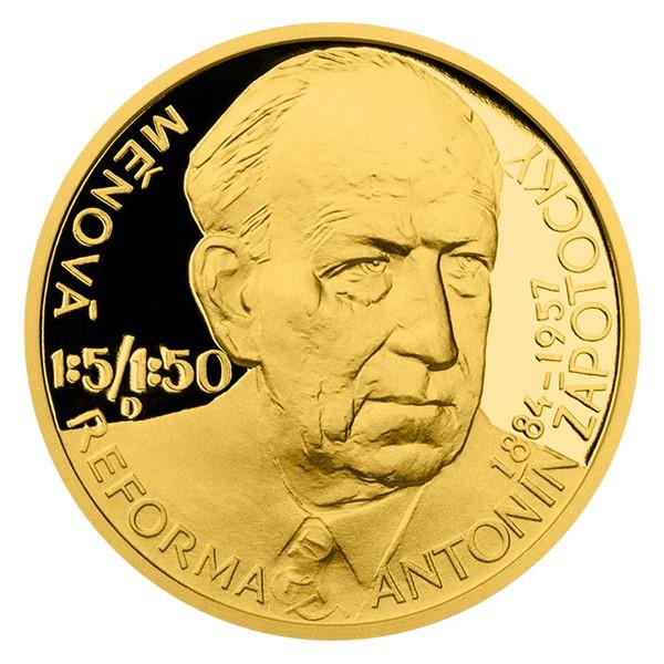 Zlatý dukát Českoslovenští prezidenti - Antonín Zápotocký proof
