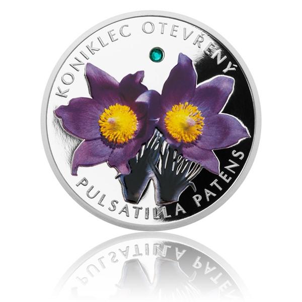 Stříbrná mince Ohrožená příroda - Koniklec otevřený proof