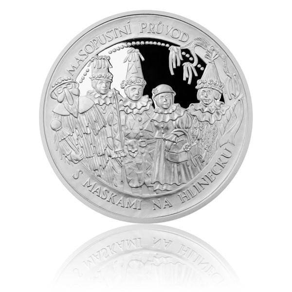 Stříbrná mince České tradice UNESCO - Masopustní průvody proof