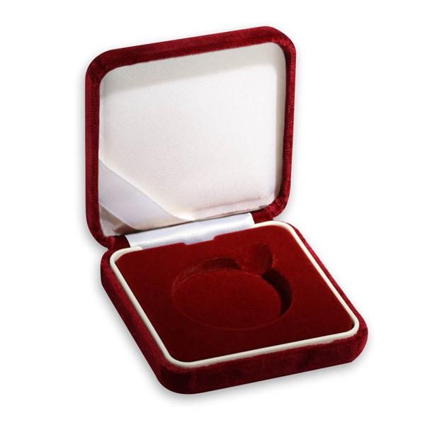 Sametová etue červená 8x8 na průměr 44,38 mm