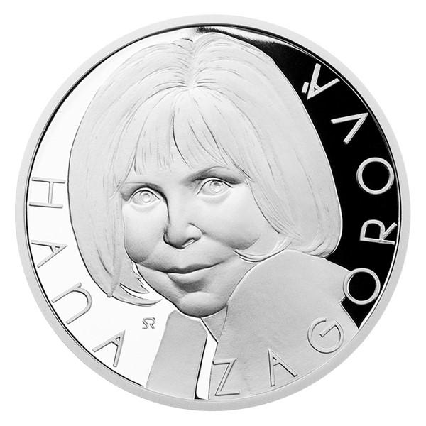 Stříbrná medaile Hana Zagorová proof