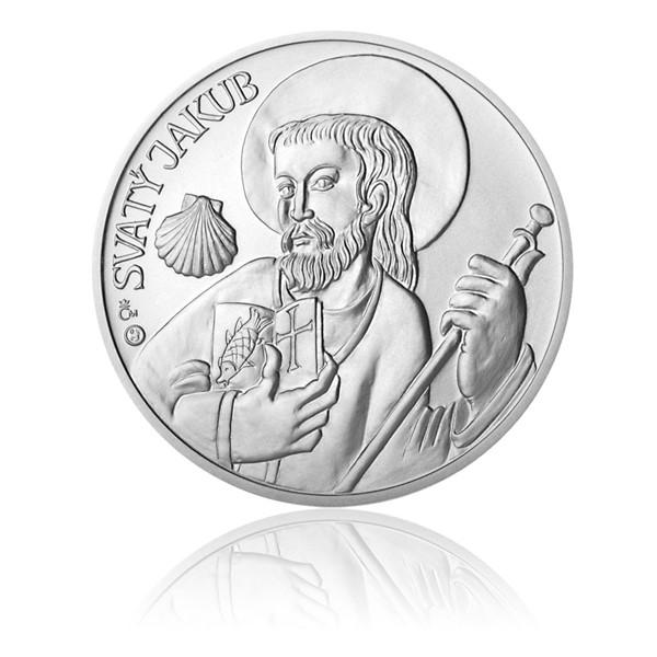 Stříbrná medaile apoštol Jakub stand