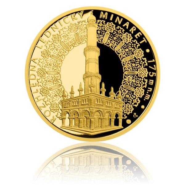 Zlatá uncová medaile Rozhledna Lednický minaret proof