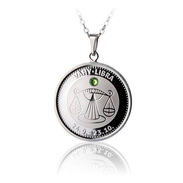 Česká mincovna 30724-711 Stříbrný přívěsek znamení zvěrokruhu Váhy proof