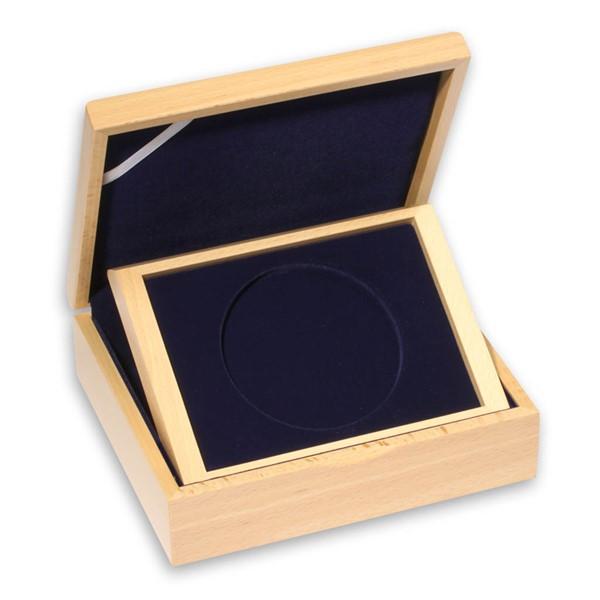 Dřevěná etue světlá na průměr 93 mm (1/2 kg Pt)