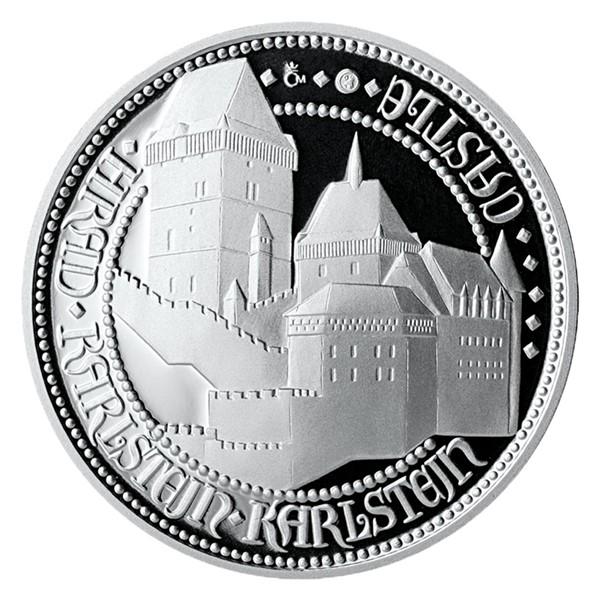 Stříbrná medaile Doba Karla IV. - Karlštejn proof