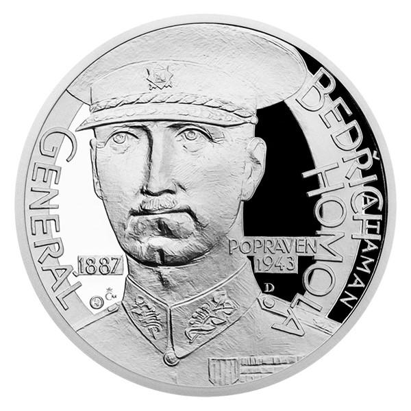 Stříbrná medaile Národní hrdinové - Bedřich Homola proof
