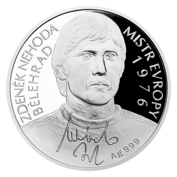 Stříbrná mince Zdeněk Nehoda proof