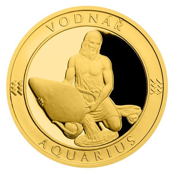 Zlatý dukát Znamení zvěrokruhu - Vodnář proof