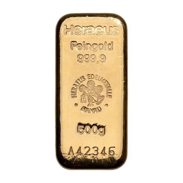 Investiční zlatá cihla 500 g - Heraeus