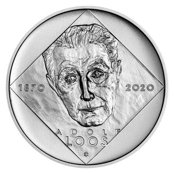 Stříbrná mince 200 Kč 2020 Adolf Loos stand