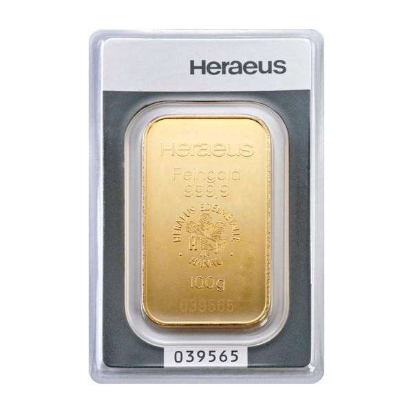 Investiční zlatá cihla 100 g - Heraeus