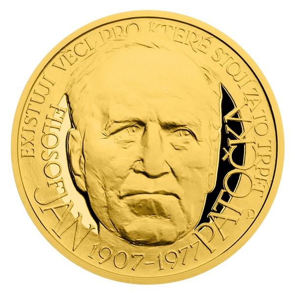 Zlatý dukát Národní hrdinové - Jan Patočka proof