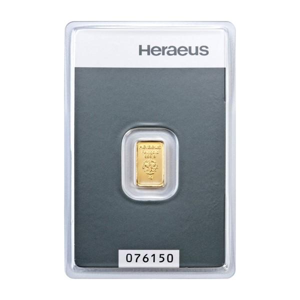 Investiční zlatá cihla 1 g - Heraeus