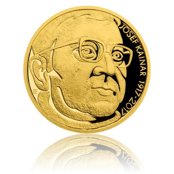 Zlatá půluncová medaile Josef Kainar proof
