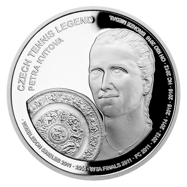Stříbrná mince České tenisové legendy - Petra Kvitová proof