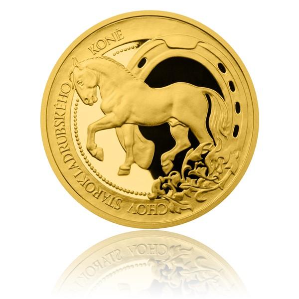 Zlatá mince České tradice UNESCO - Chov starokladrubského koně proof