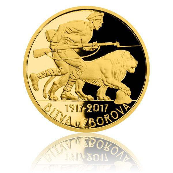 Zlatá půluncová medaile Bitva u Zborova proof