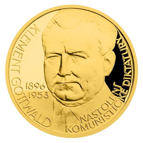 Zlatý dukát Českoslovenští prezidenti - Klement Gottwald proof