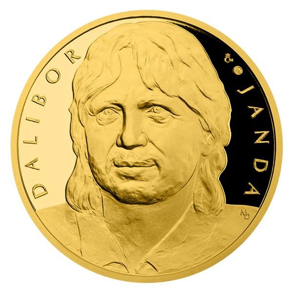 Zlatá půluncová medaile Dalibor Janda proof číslováno