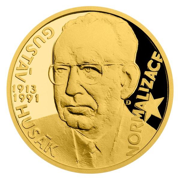 Zlatý dukát Českoslovenští prezidenti - Gustáv Husák proof