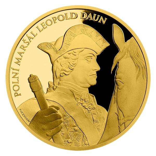 Zlatá uncová medaile Dějiny válečnictví - Bitva u Kolína proof