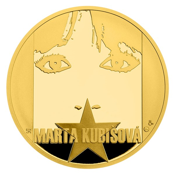 Zlatá uncová medaile Marta Kubišová proof