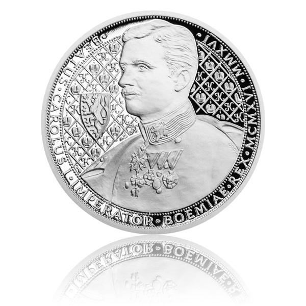 Stříbrná mince Karel I. proof