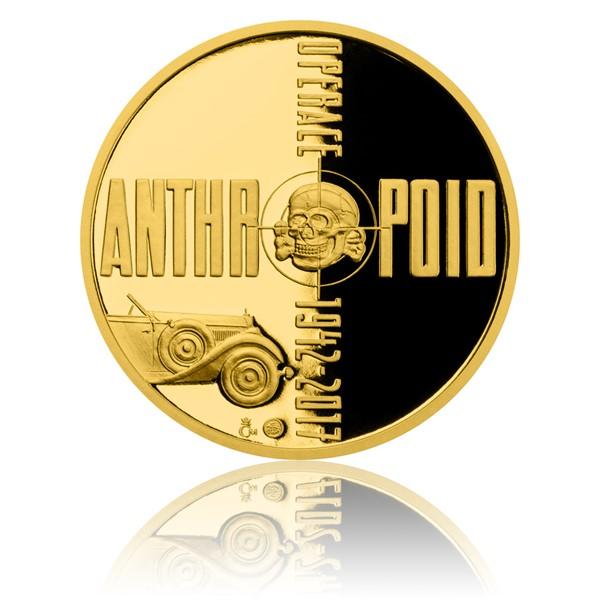 Zlatá půluncová medaile Operace Anthropoid proof
