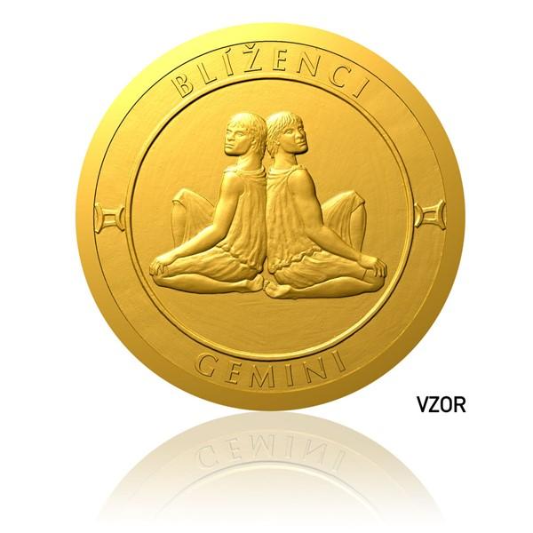 Zlatý dukát Znamení zvěrokruhu - Blíženci proof
