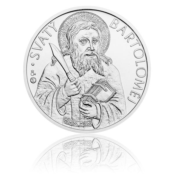 Stříbrná medaile Apoštol Bartoloměj stand