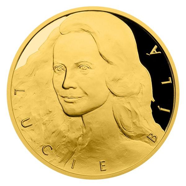Zlatá půluncová medaile Lucie Bílá proof číslováno