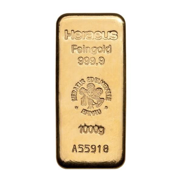 Investiční zlatá cihla 1000 g - Heraeus