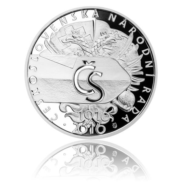 Stříbrná mince 500 Kč 2016 Vznik Československé národní rady proof
