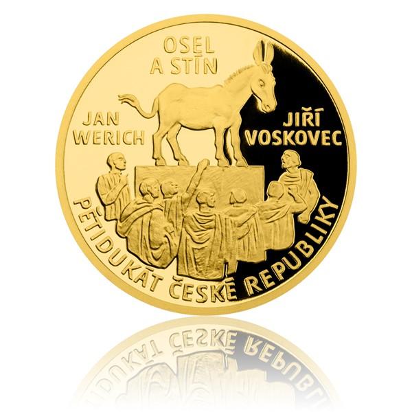 Pětidukát ČR 2017 Jiří Voskovec, Jan Werich - Osel a stín proof