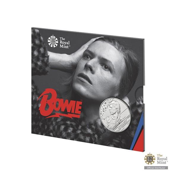 Pamětní mince David Bowie 2020 UK stand