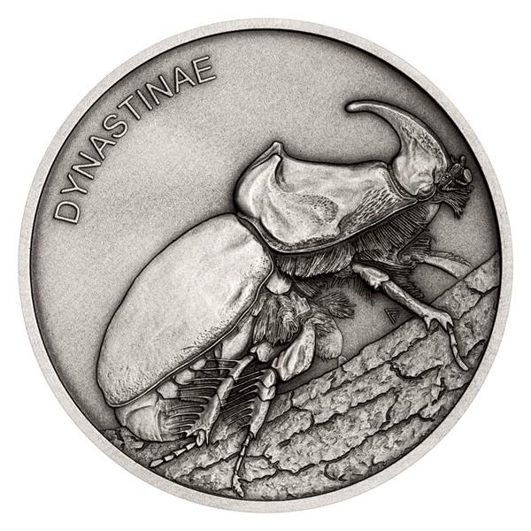 Stříbrná mince Zvířecí rekordmani - Nosorožík stand
