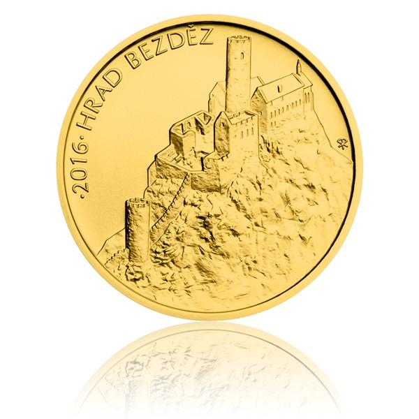 Zlatá mince 5000 Kč 2016 Bezděz stand