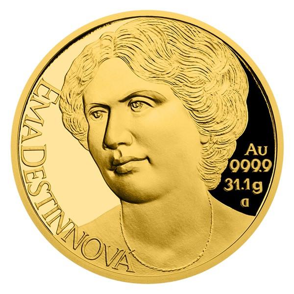 Zlatá uncová mince Osudové ženy - Ema Destinnová proof