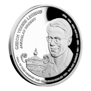 Silver coin Czech tennis legends - Jaroslav Drobný proof