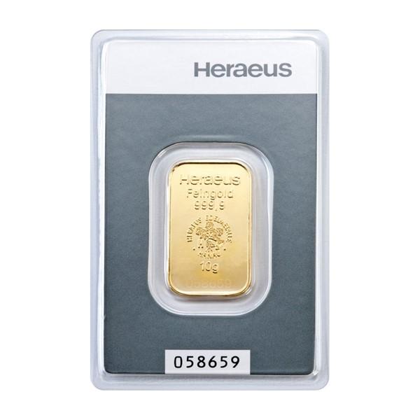 Investiční zlatá cihla 10 g - Heraeus