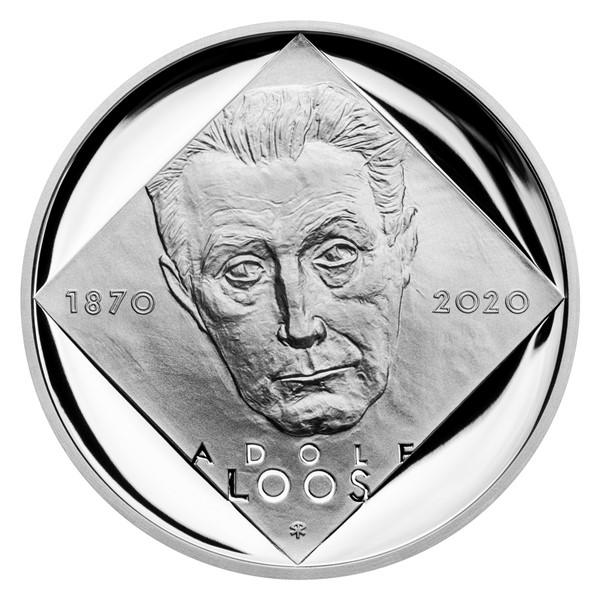Stříbrná mince 200 Kč 2020 Adolf Loos proof