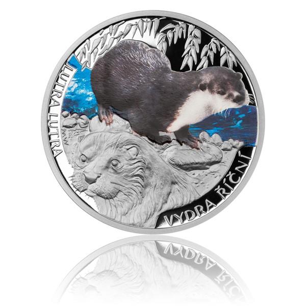 Stříbrná mince Ohrožená příroda - Vydra říční proof