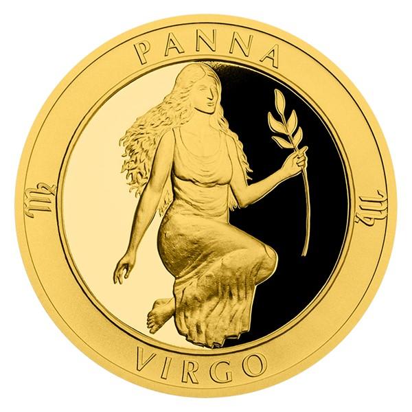 Zlatý dukát Znamení zvěrokruhu s věnováním - Panna proof