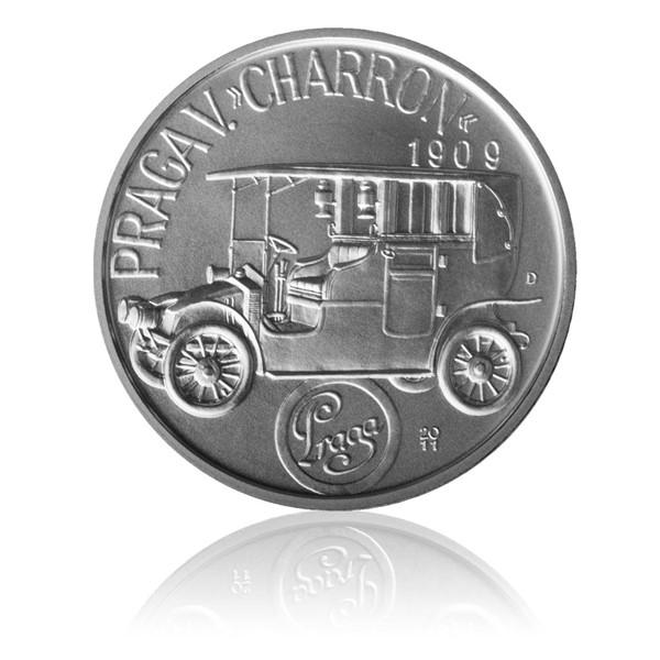 """Stříbrná medaile Praga V. """"Charron"""" stand"""