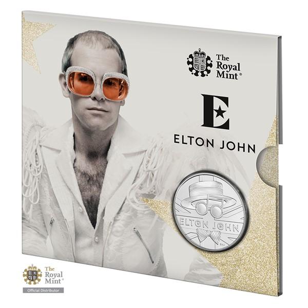Pamětní mince Elton John 2020 UK stand