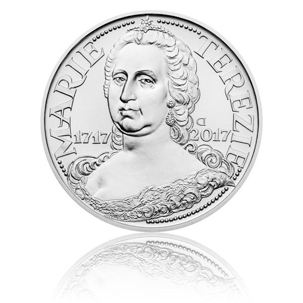 Stříbrná mince 200 Kč 2017 Marie Terezie stand