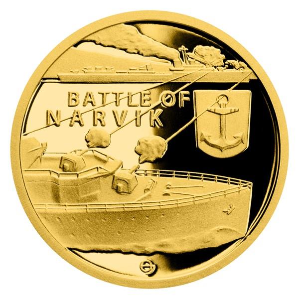 Zlatá mince Válečný rok 1940 - Bitva o Narvik proof